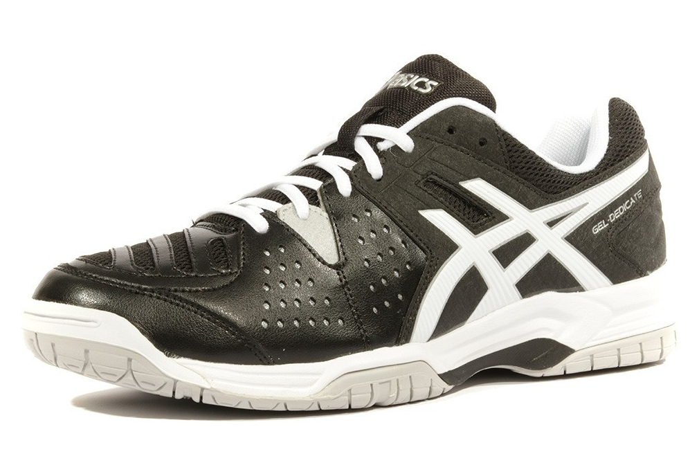 unique design in stock skate shoes Gel Dedicate 4 Homme Chaussures Tennis Noir Asics