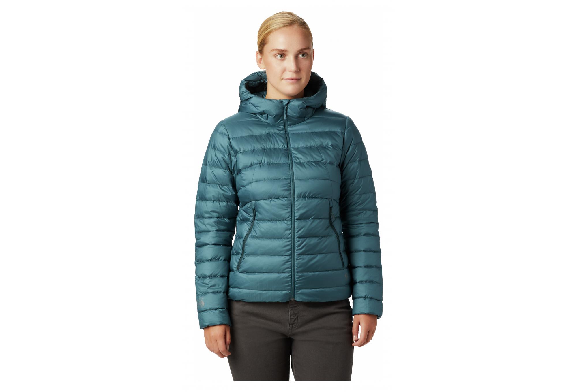 Doudoune avec capuche Femme Mountain Hardwear Rhea Ridge Bleu
