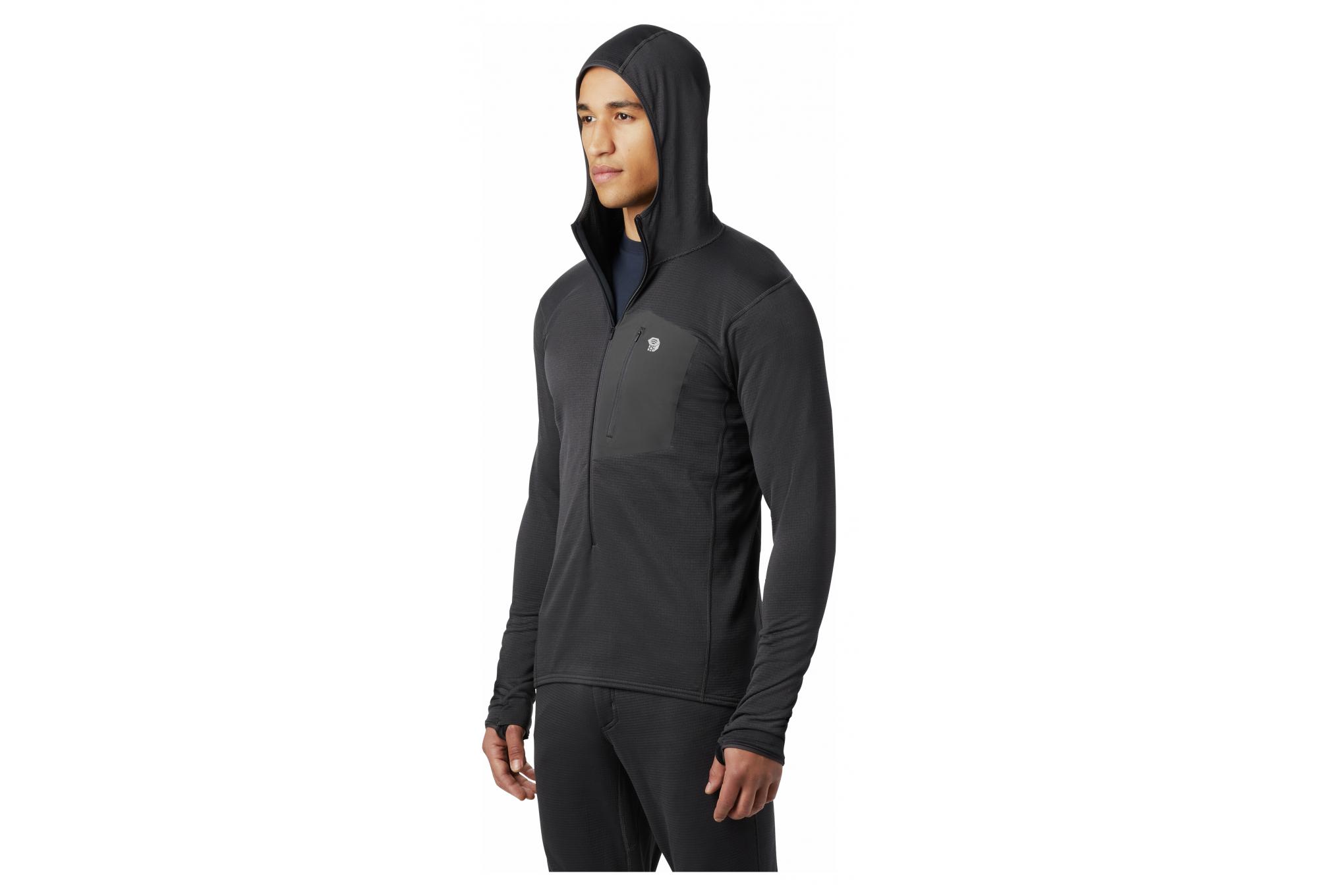 Mens Mountain Hardwear Type 2 Fun 3//4-Zip Hooded Jacket