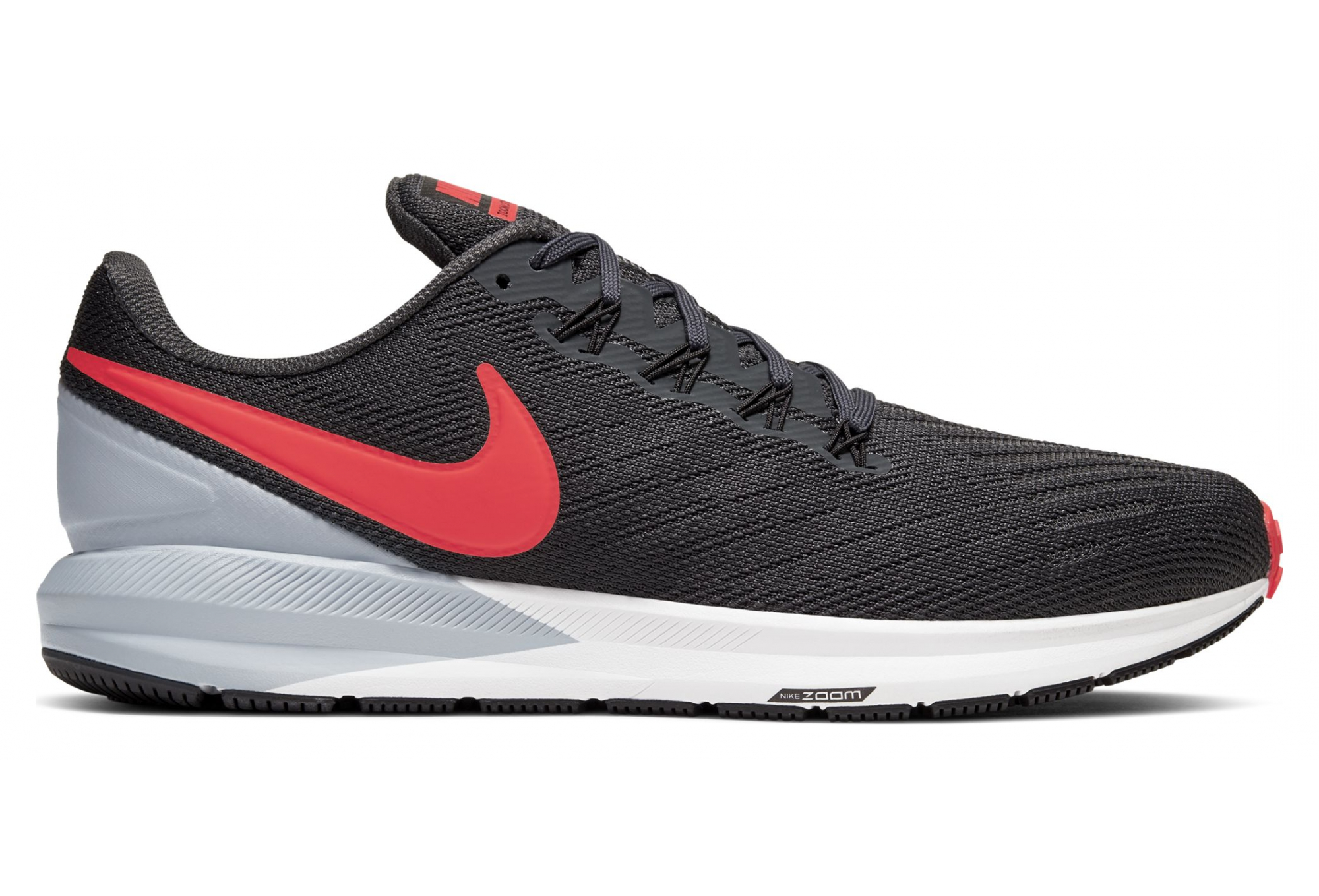 Chaussures de Running Homme NIKE Air Zoom Structure 22 Gris Rouge