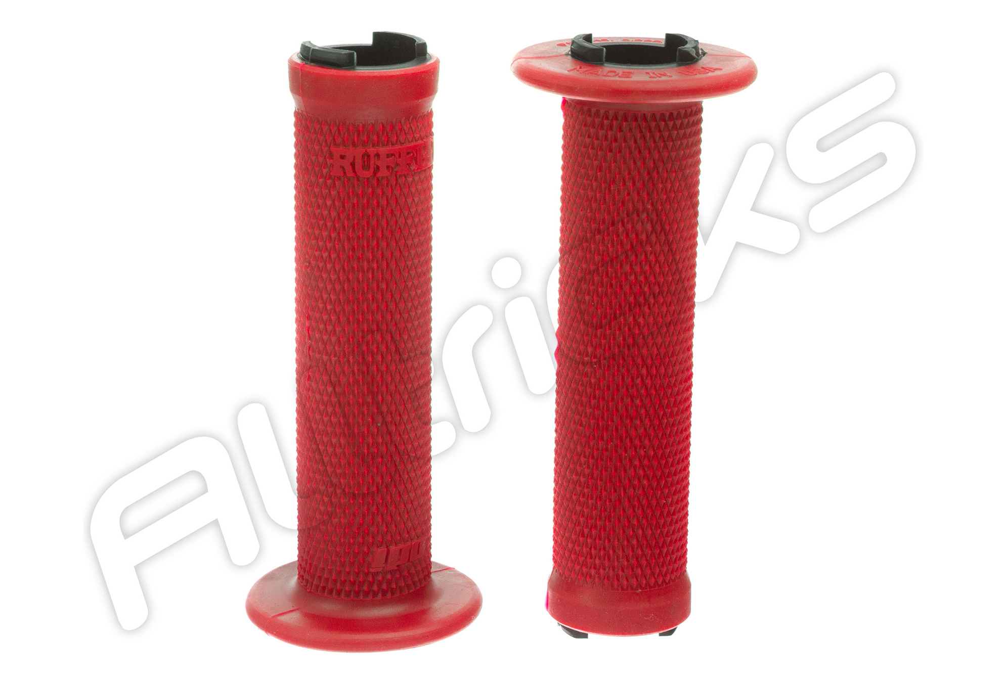 OneUp composants Lock-on Poignées Rouge