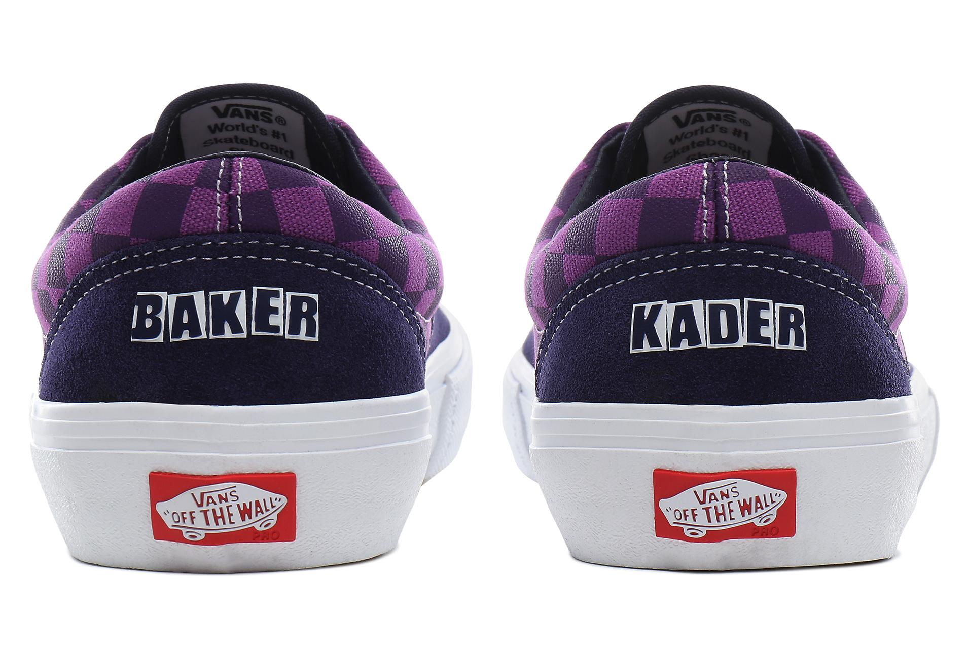 Vans Era Pro Bäckerschuhe Kader Purple Check Purple