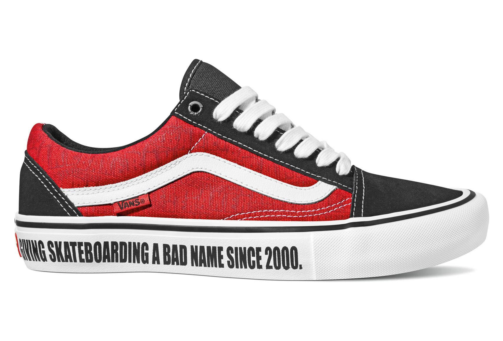 Chaussures Vans x Baker Old Skool Pro BlackWhiteRed