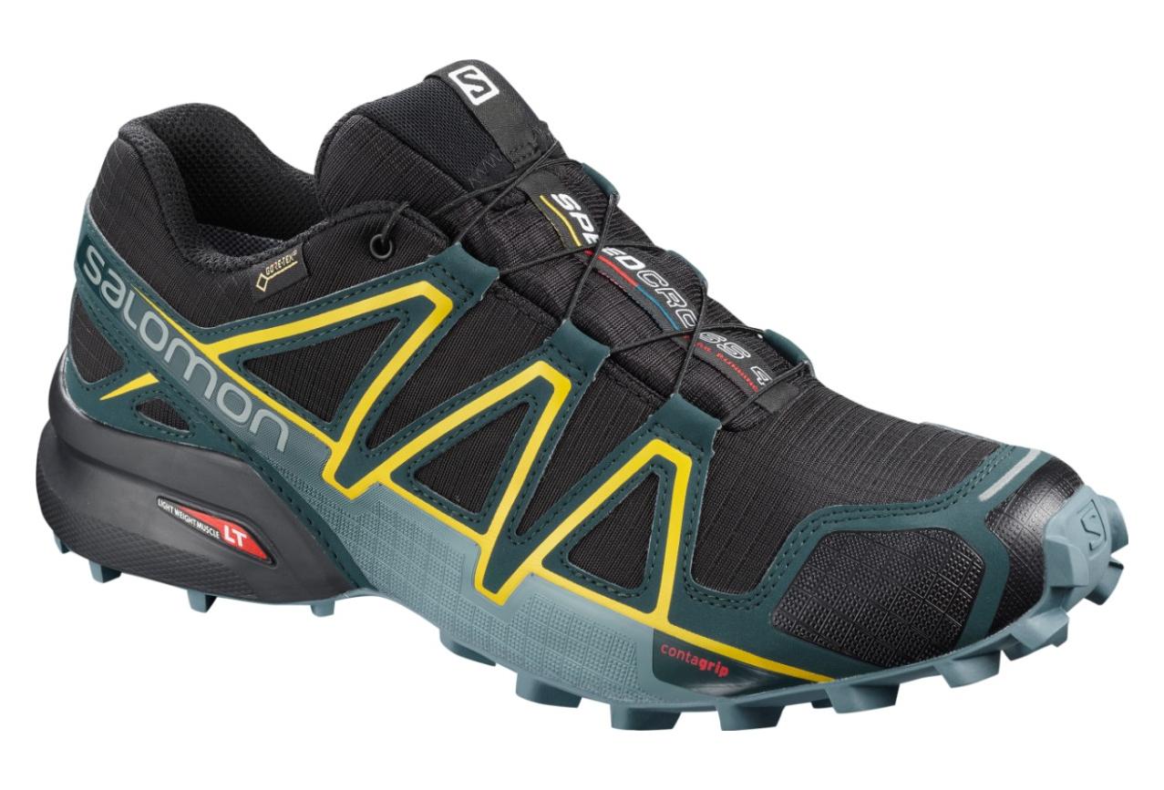 SALOMON Shoes SPEEDCROSS 4 GTX Black Green yellow
