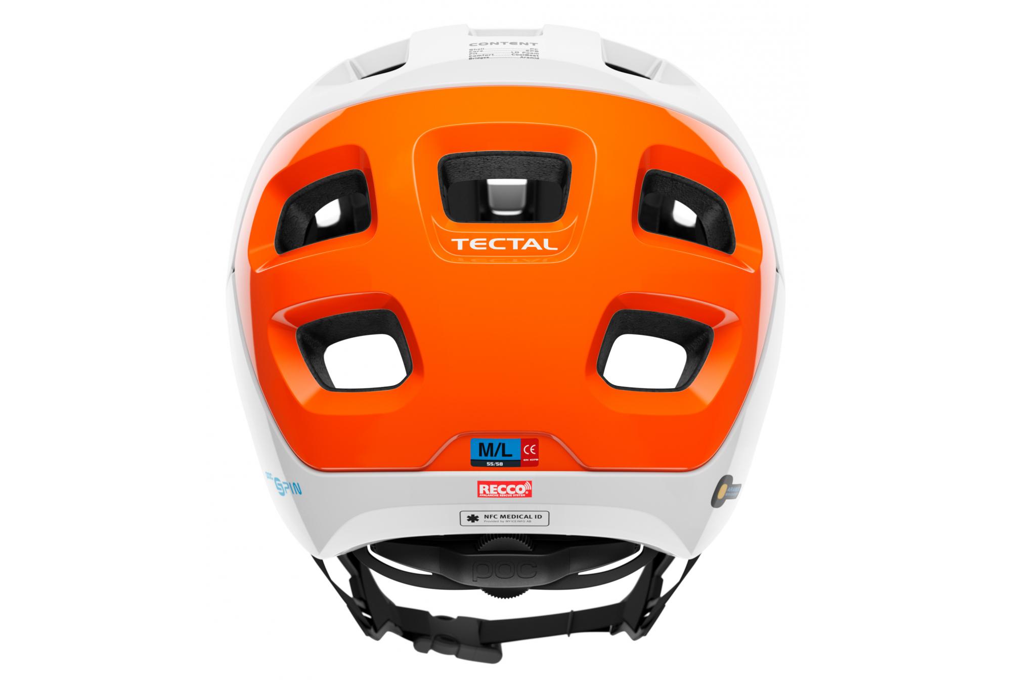 xlx Multicolore Hydrogen White//Fluorescent Orange AVIP POC Tectal Race Spin NFC Casque de v/élo Unisexe Adulte