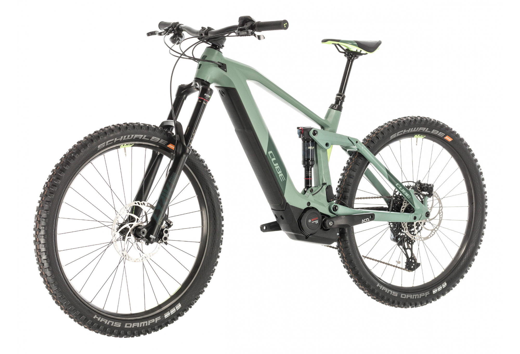 Cube Full Suspension Electric MTB Stereo Hybrid 160 HPC SL 625 Sram NX SX Eagle 12s Green 2020