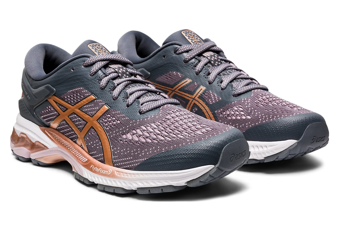 Asics Gel Kayano 26 Women Grey Pink