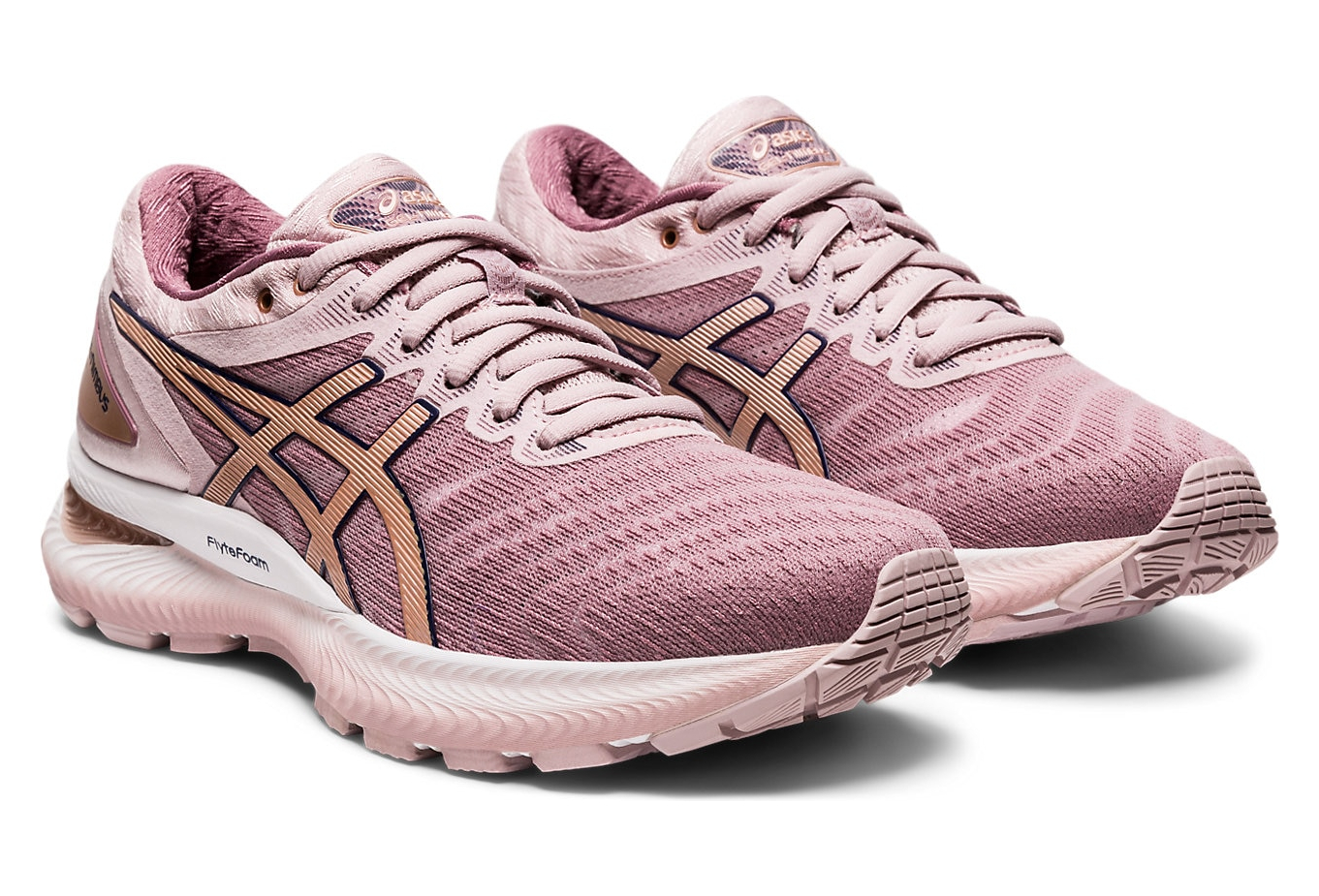Asics Gel Nimbus 22 Women Pink Gold