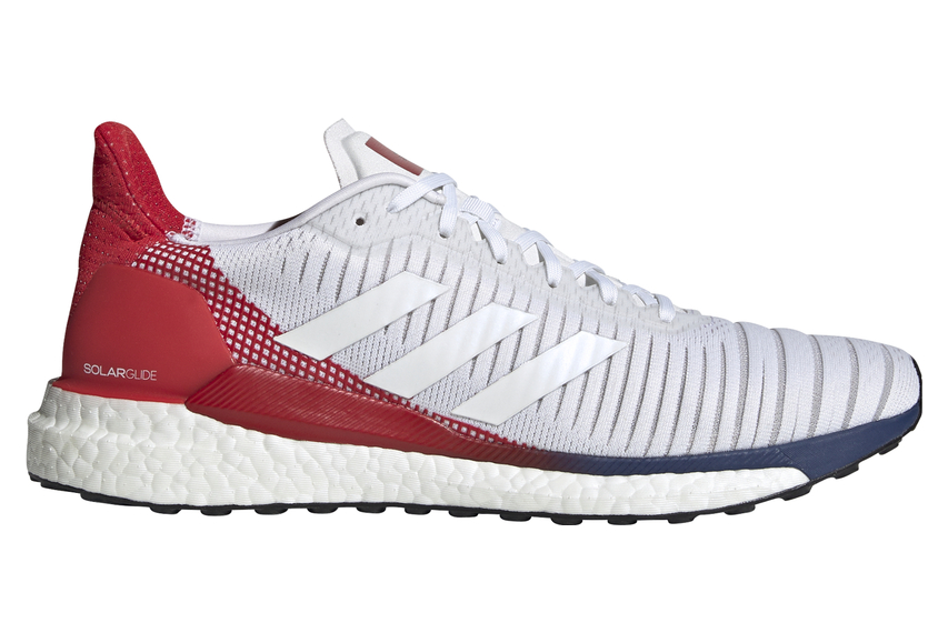 idea habla tratar con  adidas Solar Glide 19 White Blue Red Men | Alltricks.com