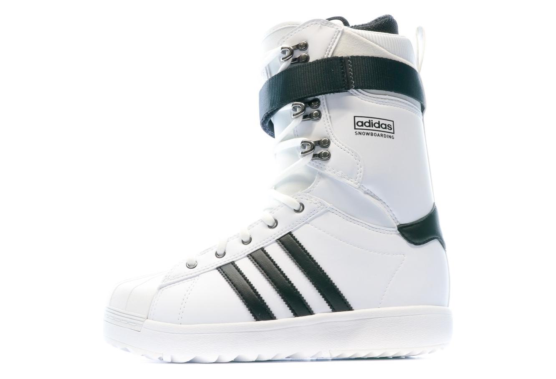 Superstar ADV Chaussures de snowboard blanches homme Adidas ...