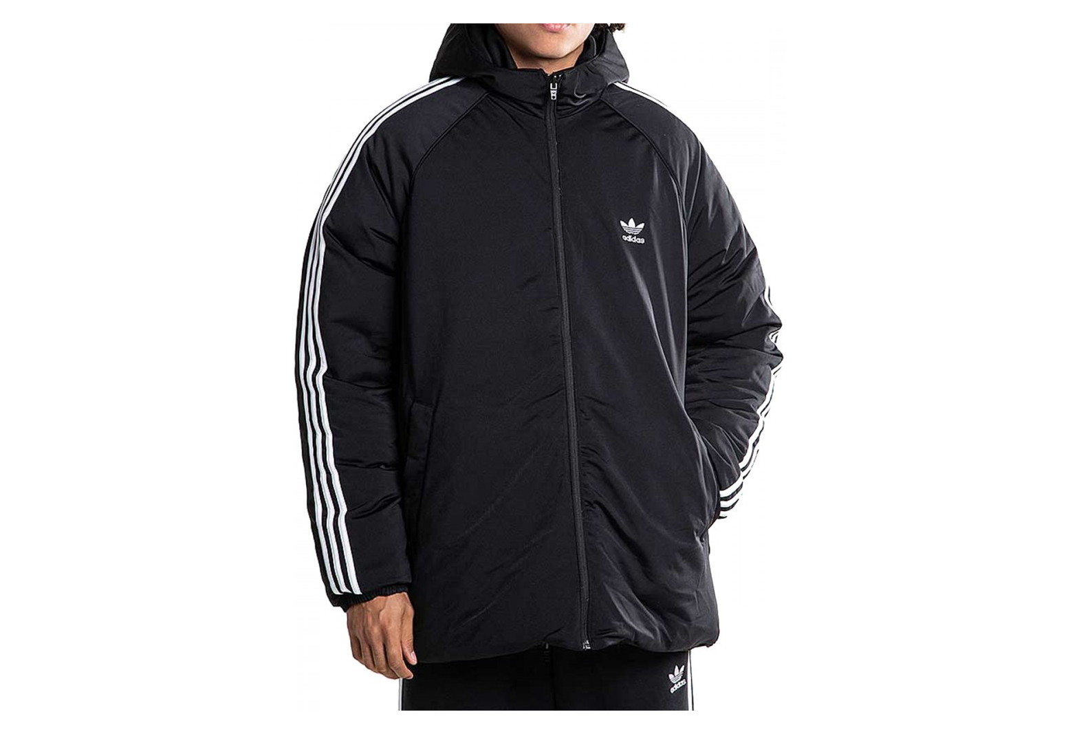 Manteau réversible noir homme Adidas SST Down Hooded