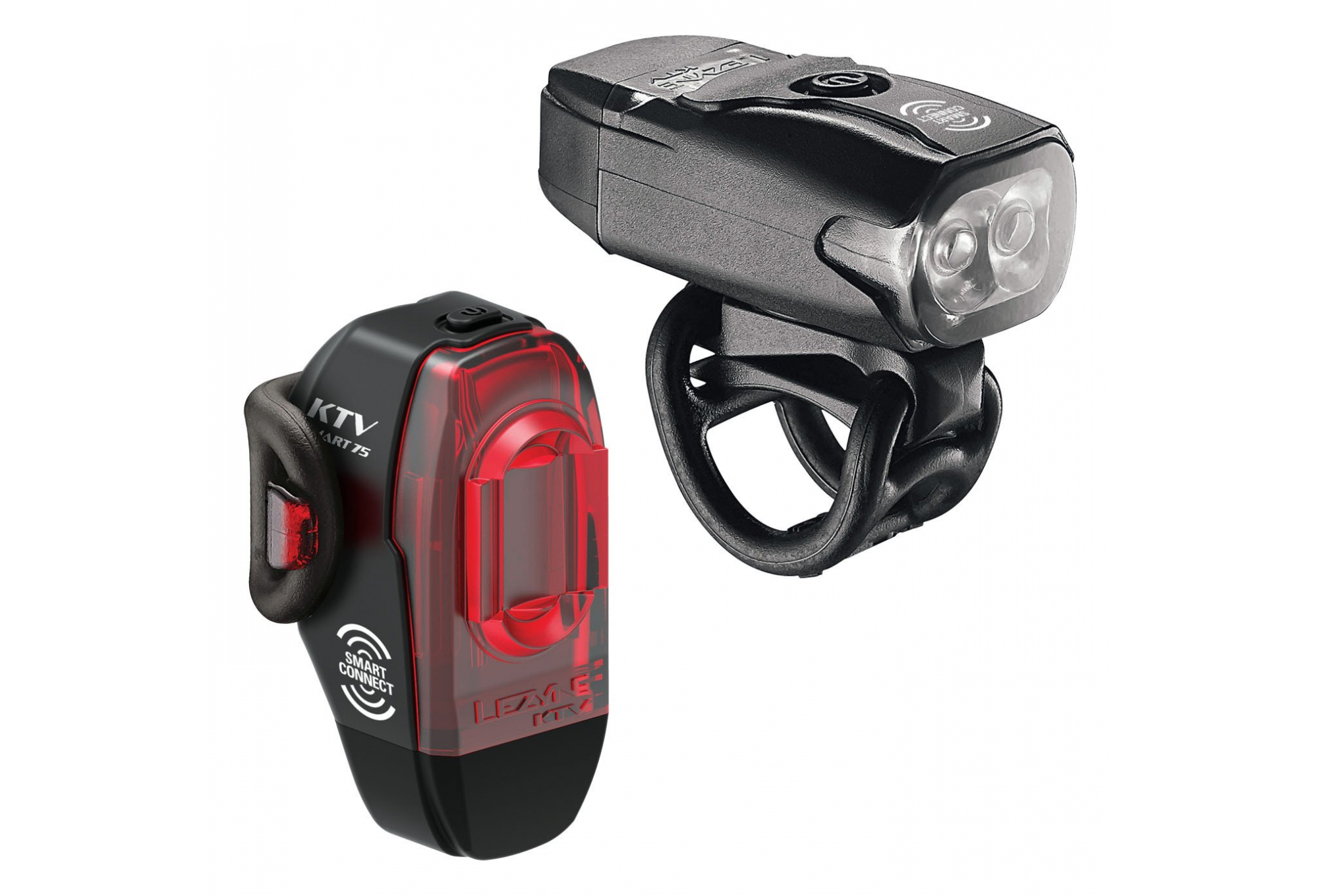 LEZYNE MICRO DRIVE 500XL AND KTV BLACK BICYCLE HEADLIGHT AND TAILLIGHT SET