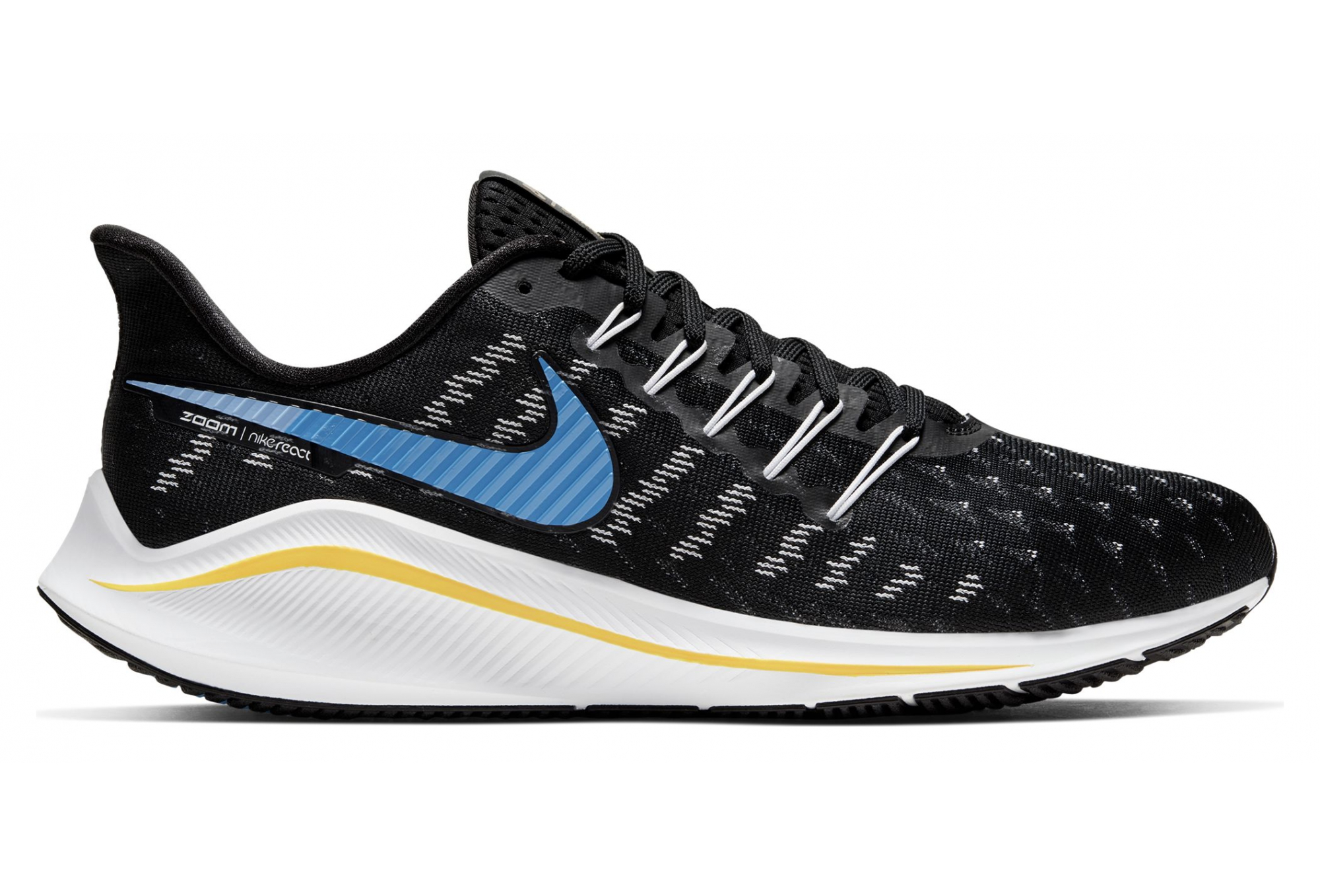 skate shoes best first look Nike Air Zoom Vomero 14 Black Blue Yellow Men | Alltricks.com
