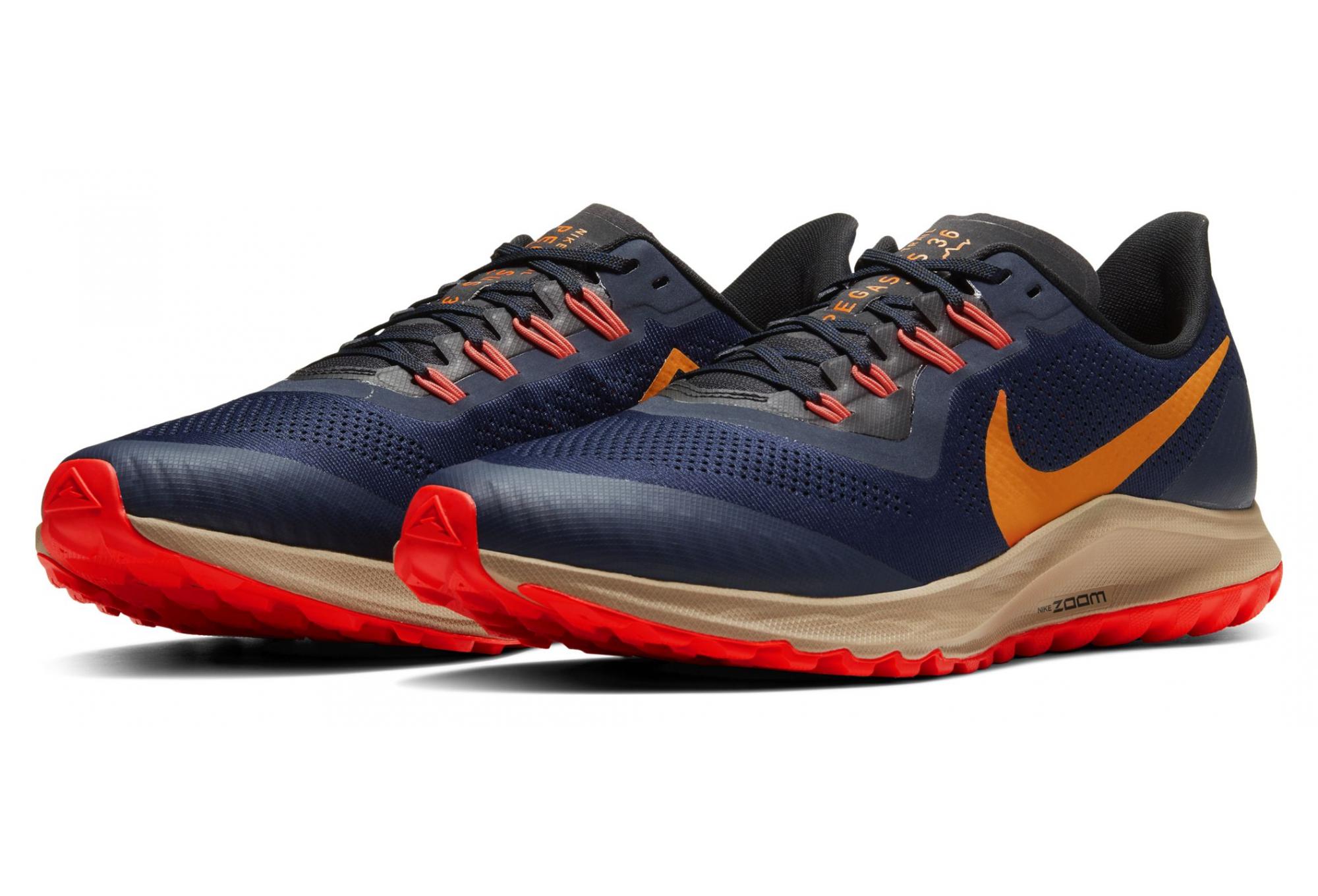 Nike Air Zoom Pegasus 36 Trail Blue Orange Men