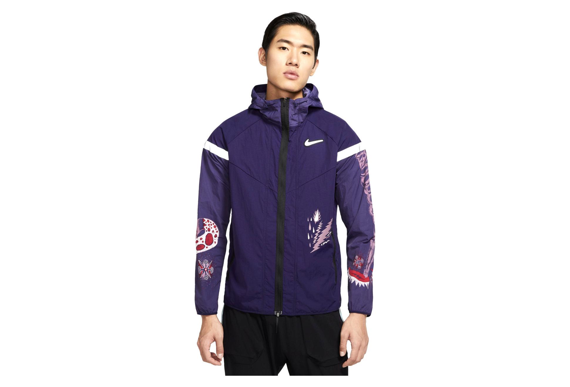 Windproof Jacket Nike Windrunner Wild Run Blue Pink Men