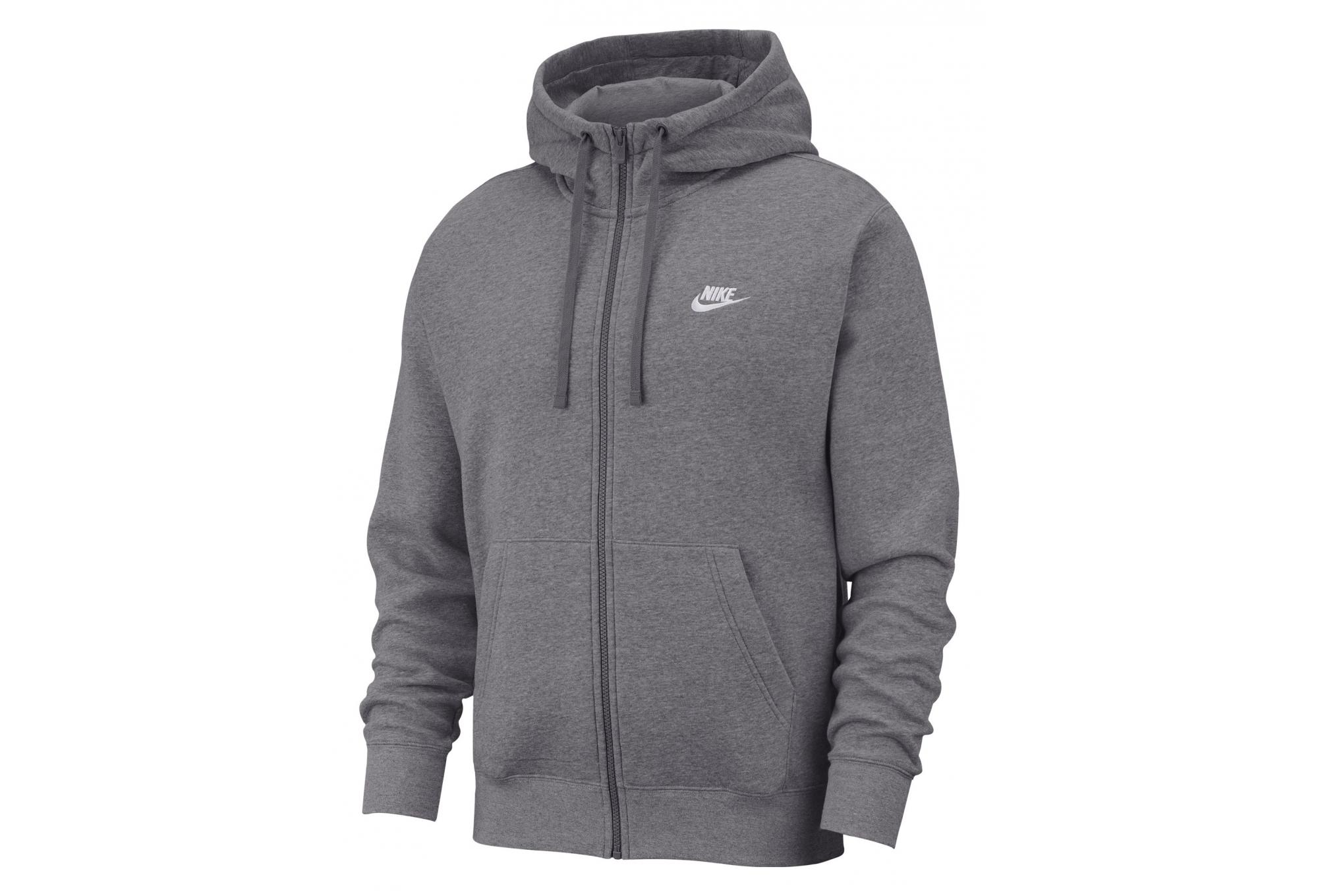 Nike Sportswear Club Fleece Charcoal Heathr Anthracite White