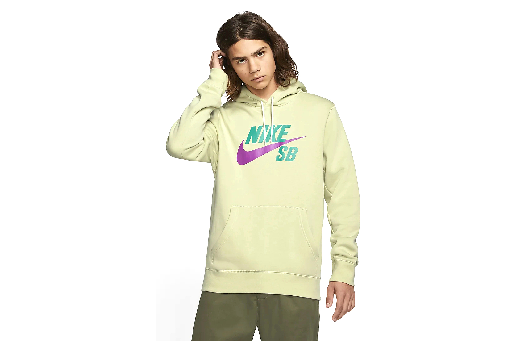 Sweat à Capuche Nike SB Icon Vert Violet