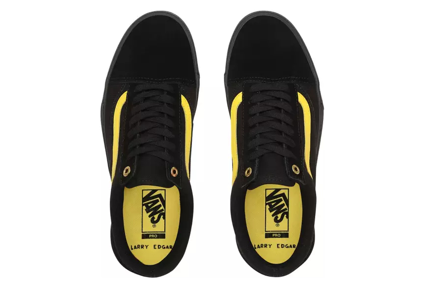 Vans Old Skool Pro BMX Larry Edgar Shoes Black Yellow