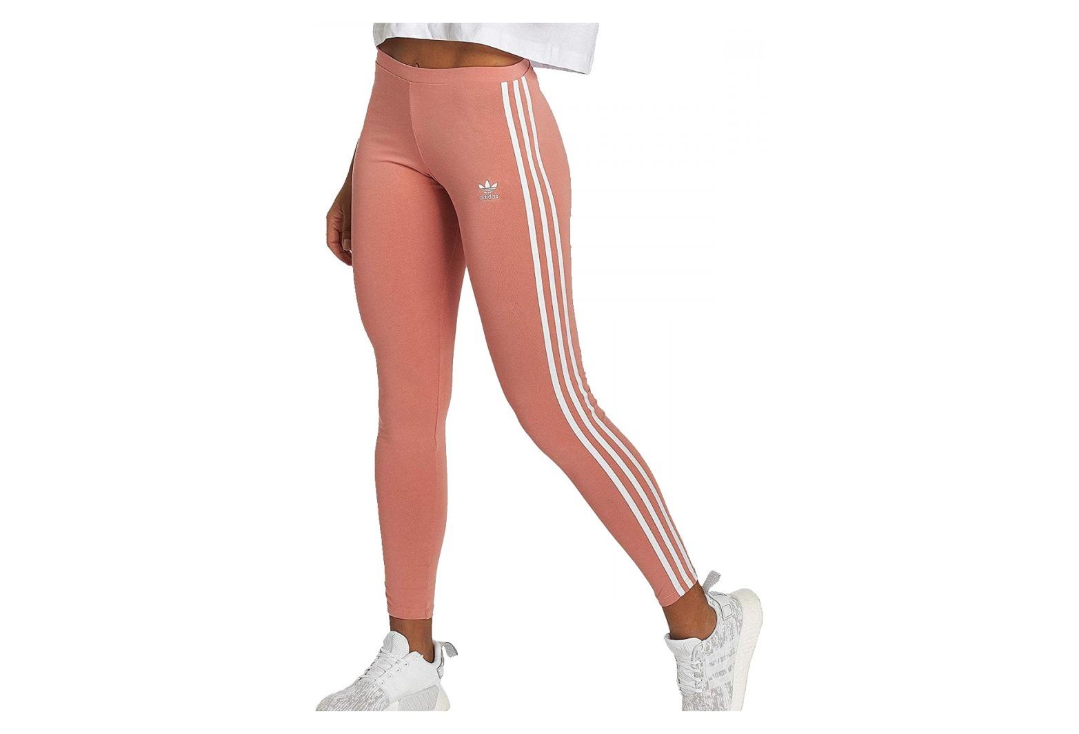 Legging rose femme Adidas 3 stripes