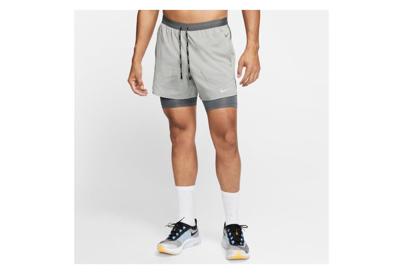 Nike Flex Stride 5 '' 2 in 1 Shorts Gray Mens