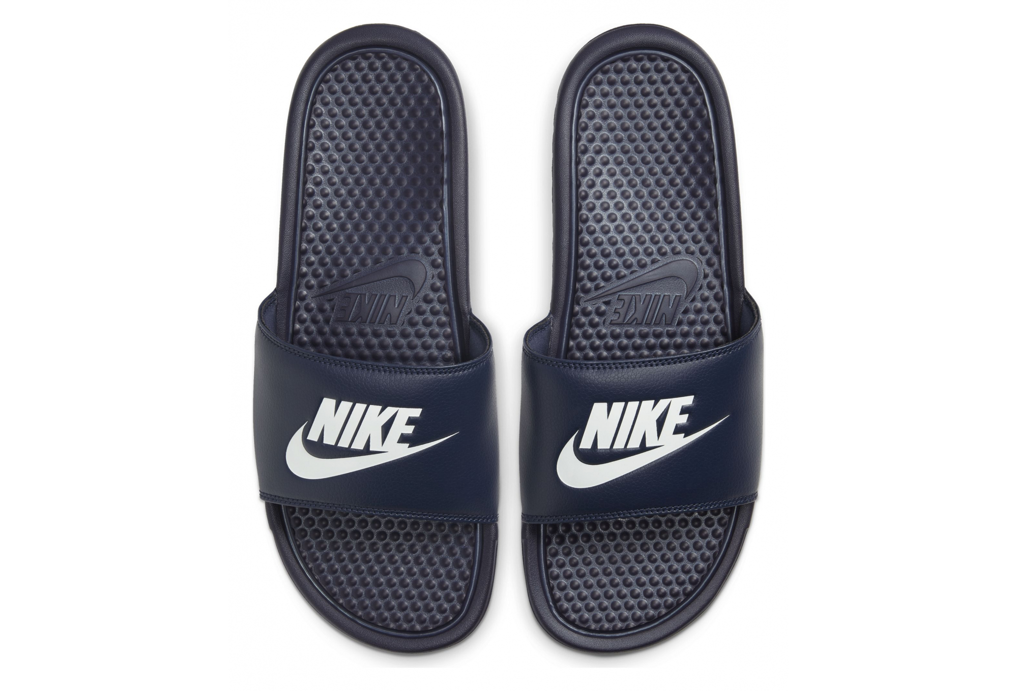 fricción pizarra Calificación  Claquettes Nike Benassi Just Do It Bleu Blanc | Alltricks.fr