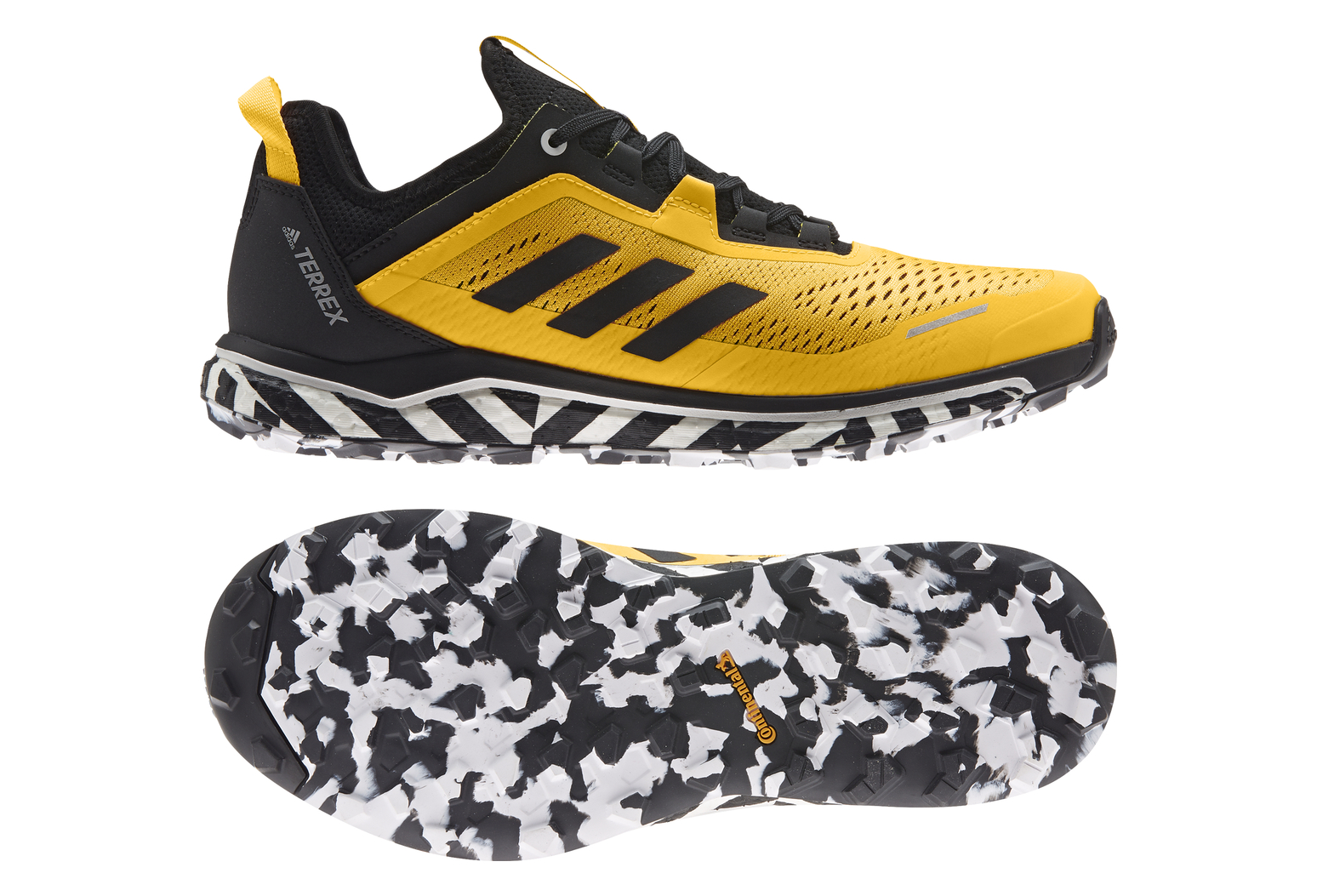 Adidas Terrex Agravic Flow Yellow Black Trail Shoes