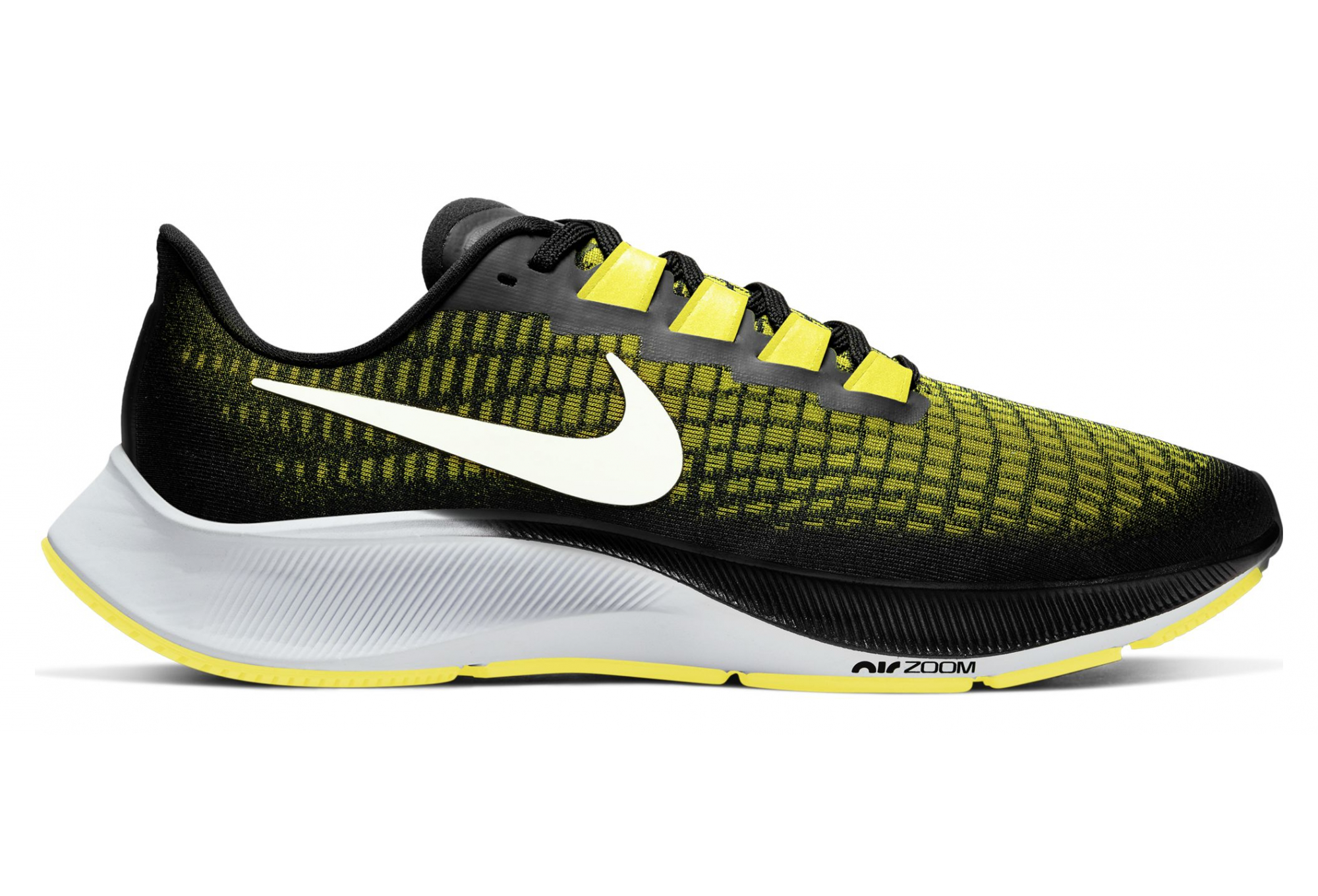 Nike Air Zoom Pegasus 37 Black Yellow Mens Running Shoes