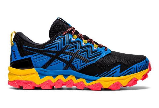 Chaussures de Trail Asics Gel FujiTrabuco 8 GTX Bleu / Noir ...