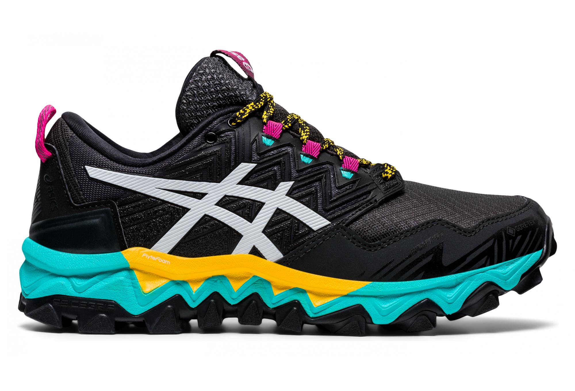 Chaussures de Trail Femme Asics Gel FujiTrabuco 8 GTX Noir / Vert ...