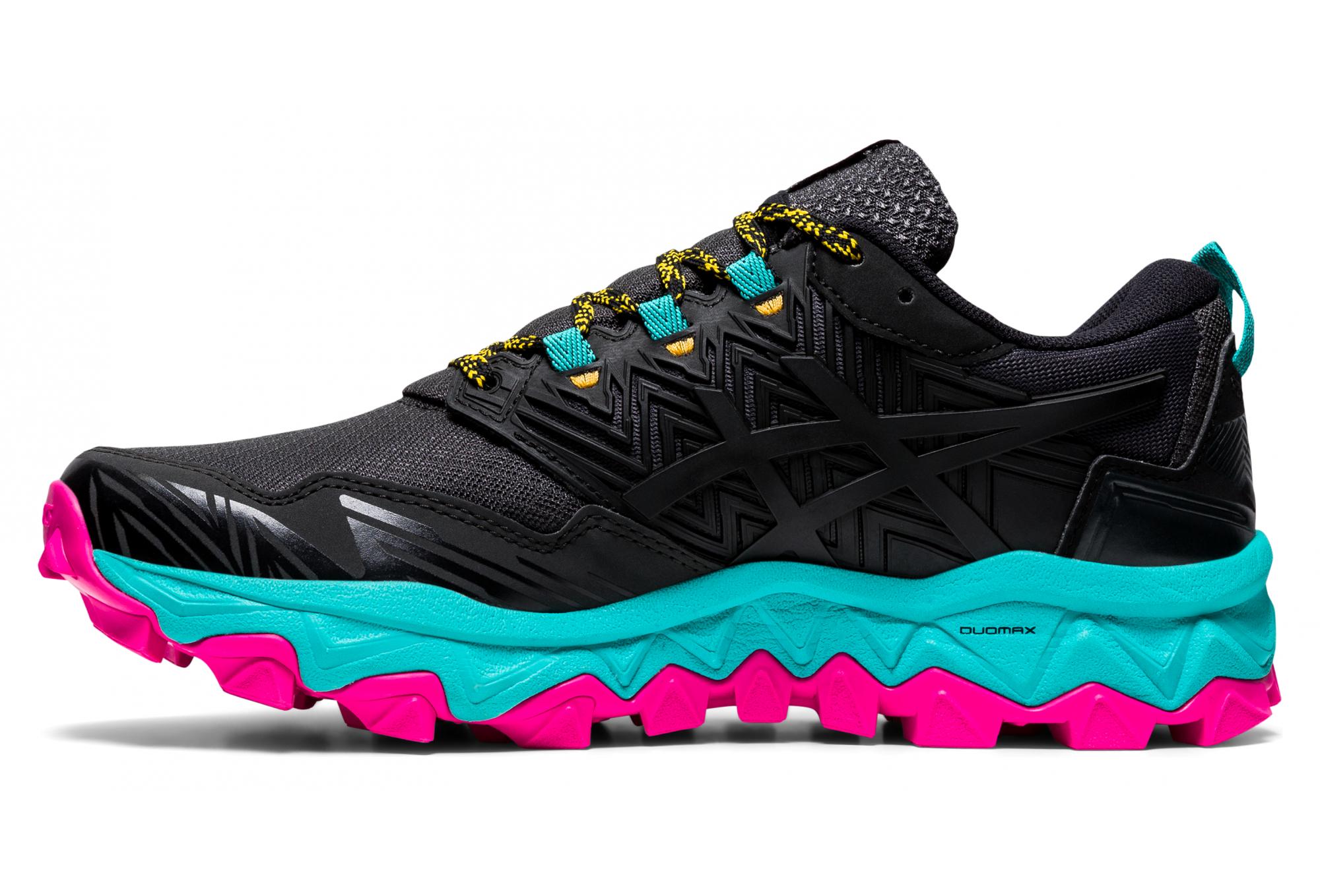 Chaussures de Trail Femme Asics Gel FujiTrabuco Noir / Rose ...