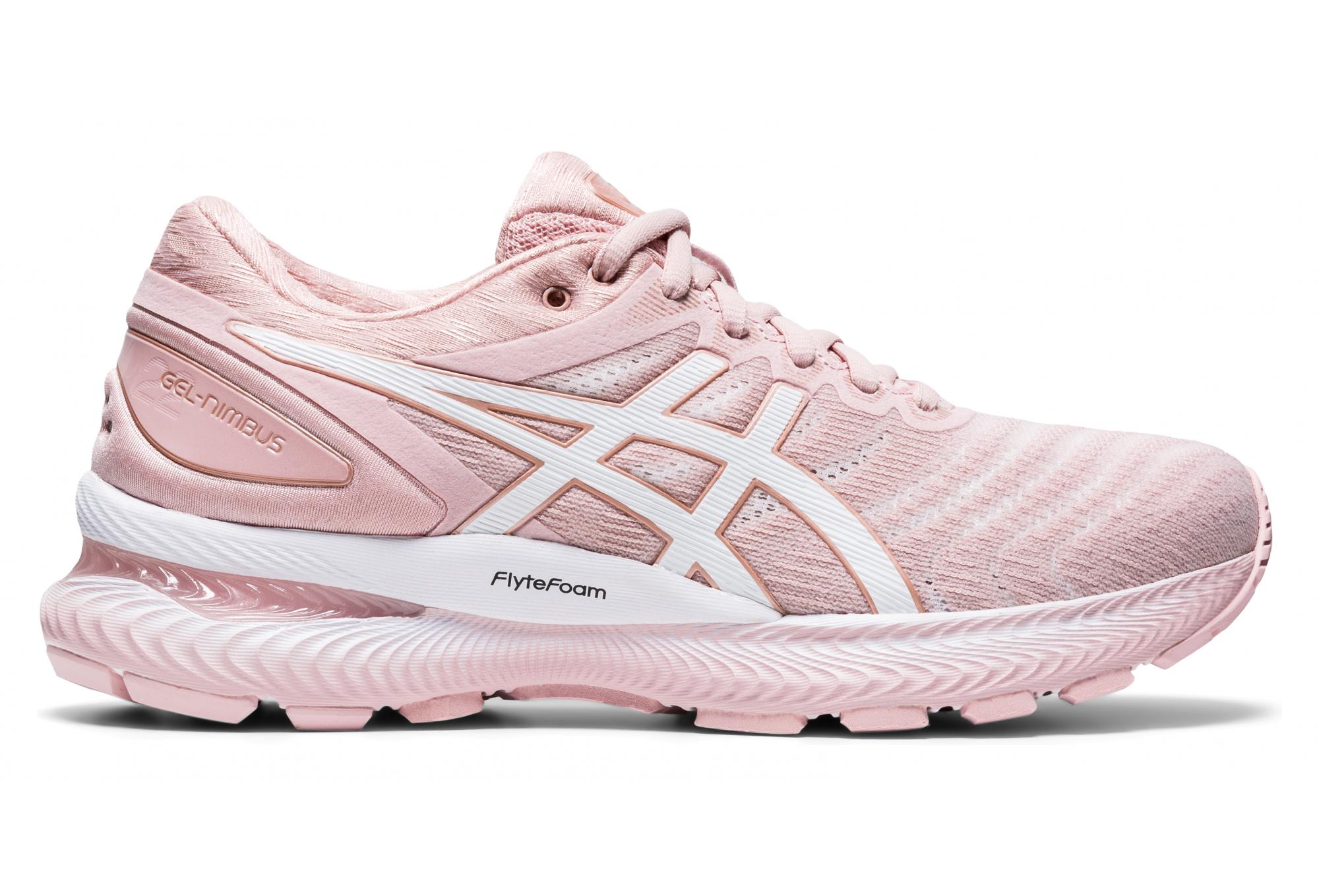 Chaussures de Running Femme Asics Gel Nimbus 22 Rose | Alltricks.fr
