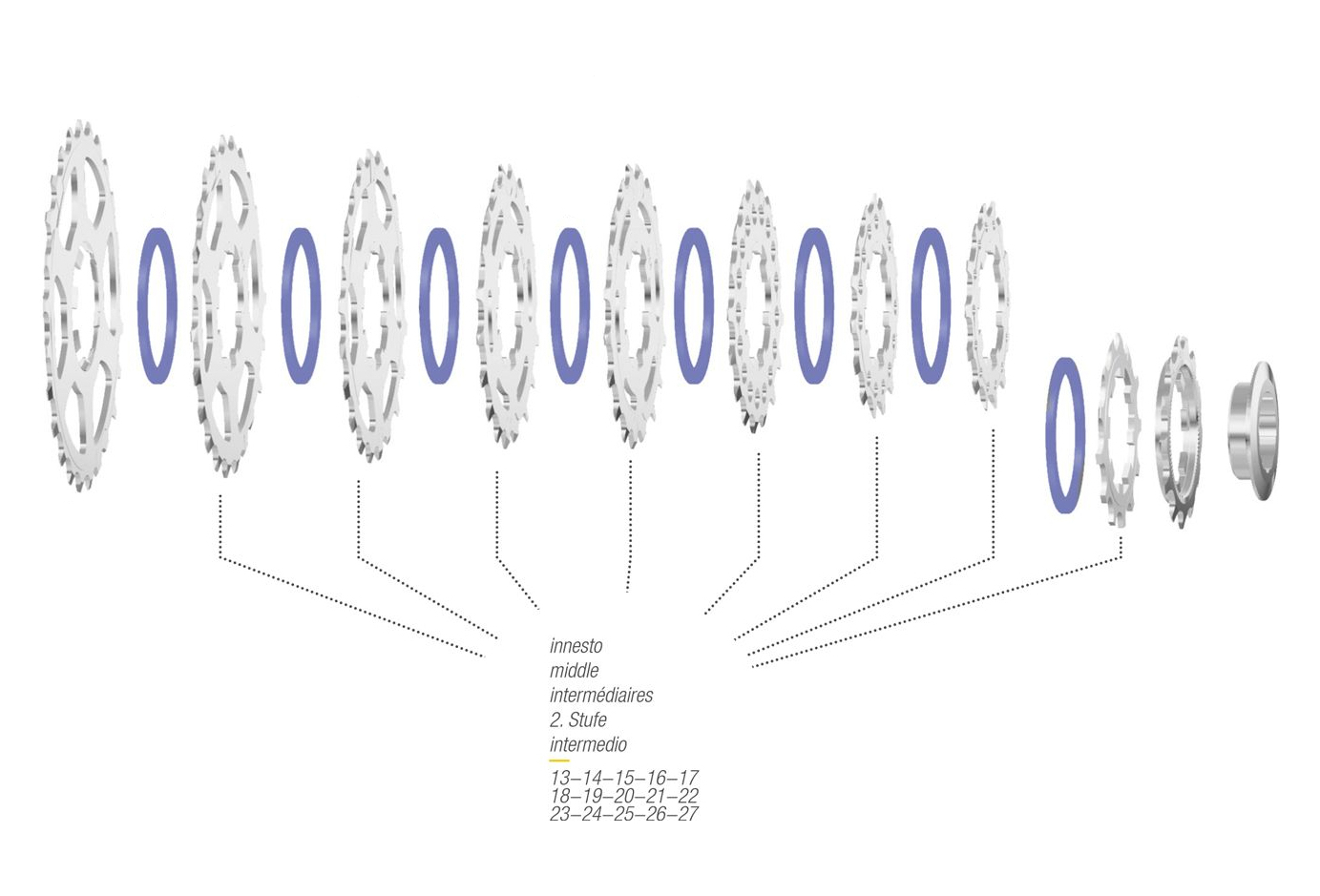 9 Vitesses 16 D/épart Miche Argent/é Pignon Adaptable Shimano 8