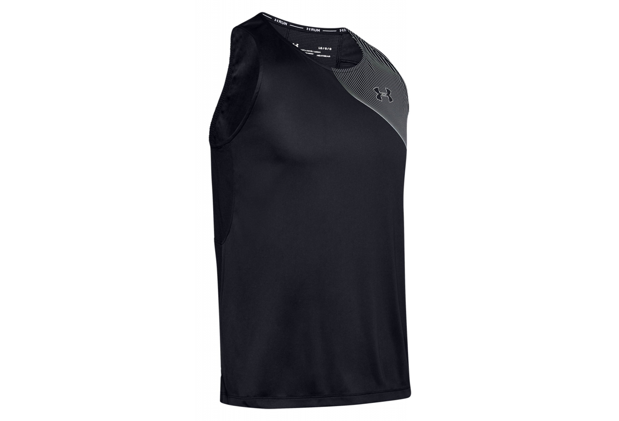césped flor Lechuguilla  Camiseta sin mangas Under Armour Qualifier Iso-Chill negro hombre |  Alltricks.es