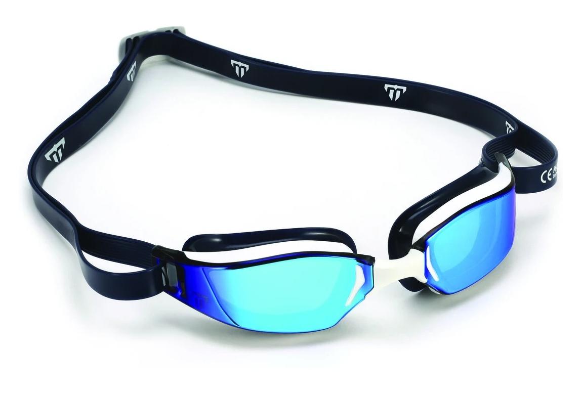 Gold Titanium Mirror Lens Phelps Xceed Unisex Swimming Goggles in Gold /& White
