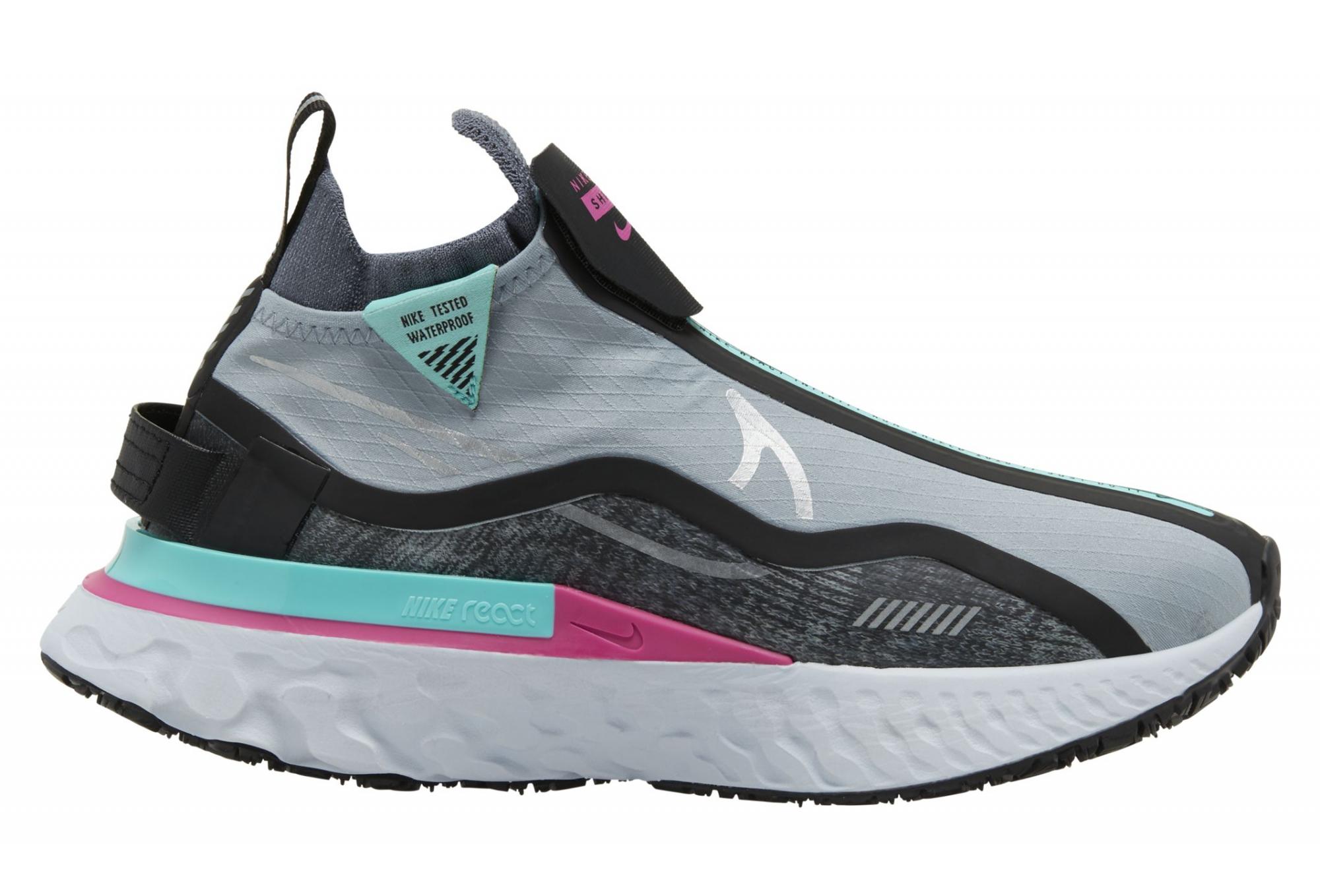 Arqueológico carne Cariñoso  Zapatillas Running Nike React Infinity Run Flyknit Shield Negro Rosado  Mujeres | Alltricks.es