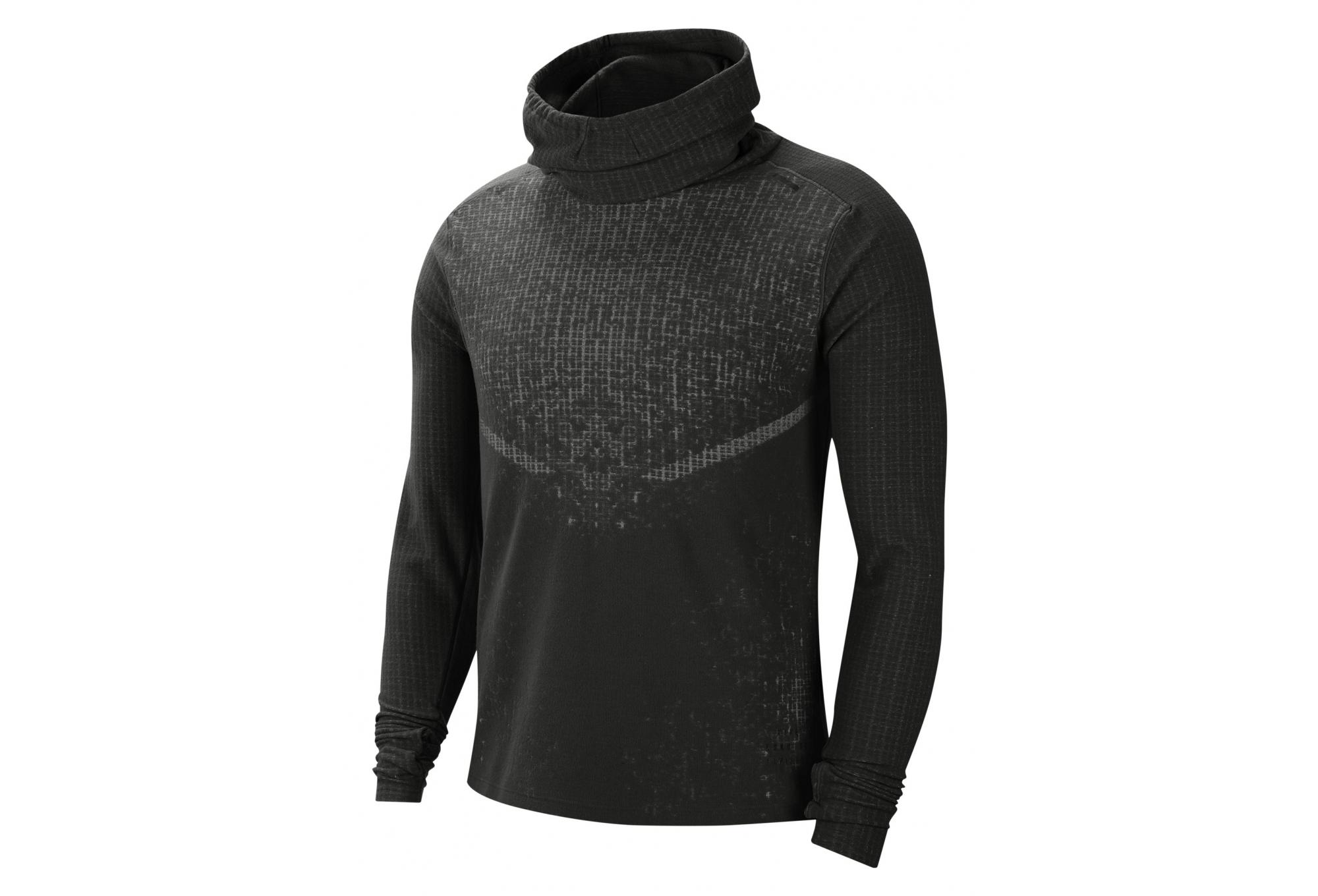 Contemporáneo Transitorio Barriga  Nike Run Division Wooldorado Top Black Men | Alltricks.com