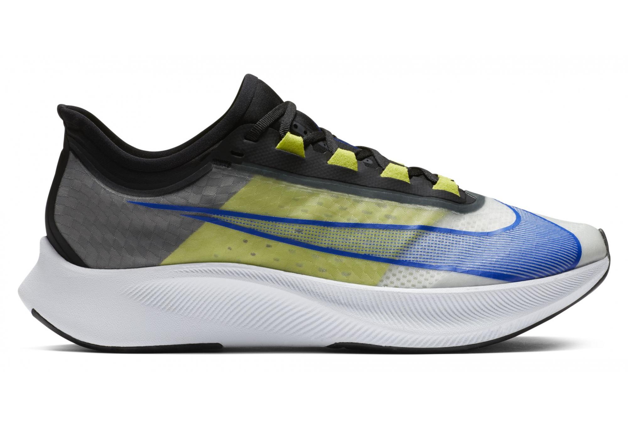 Nike Zoom Fly 3 Ekiden Running Shoes Yellow Black Blue Men ...