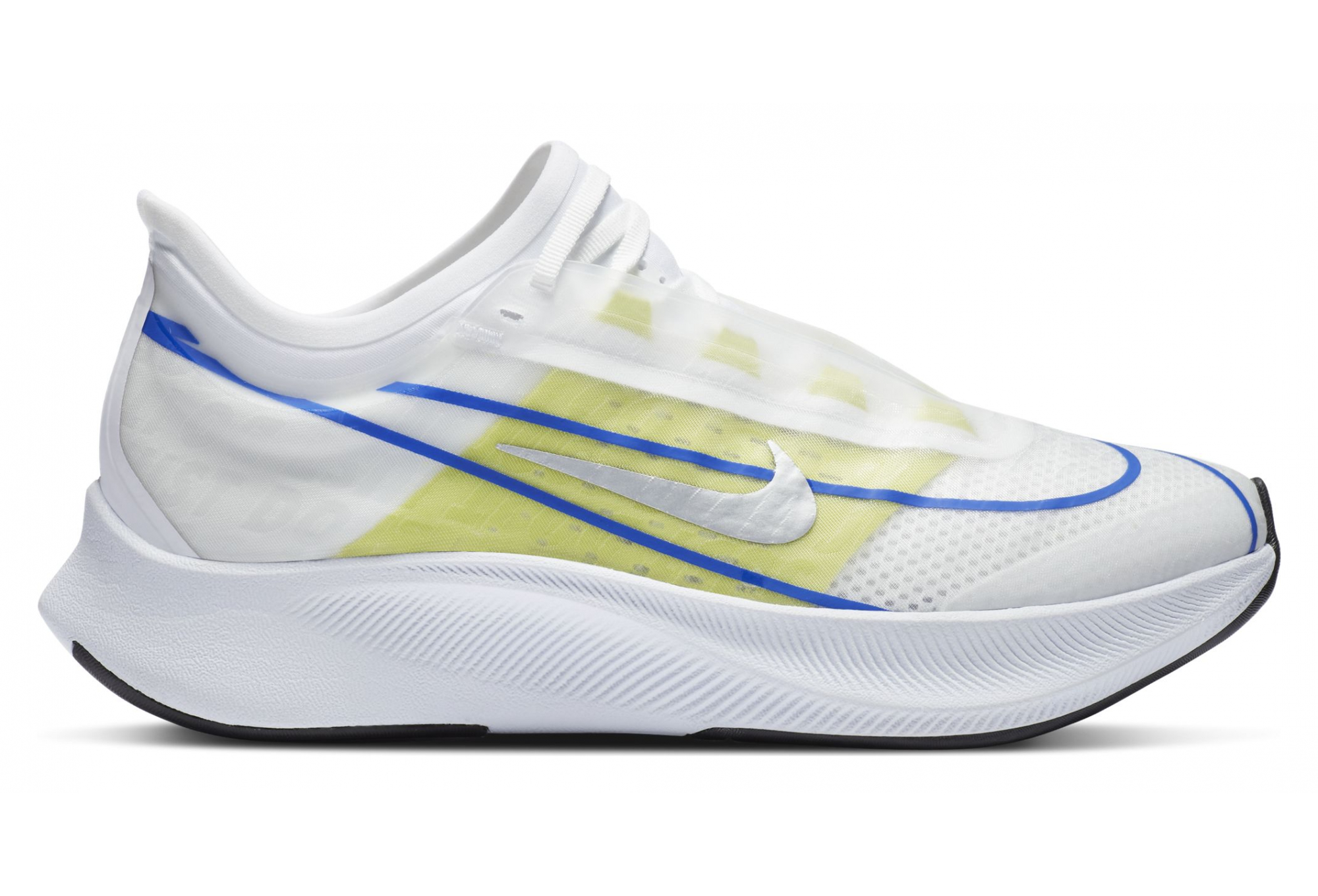 Nike Zoom Fly 3 Ekiden Running Shoes White Yellow Blue Women ...