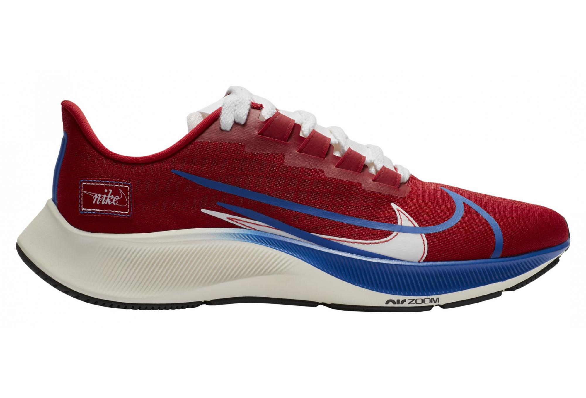 Nike Air Zoom Pegasus 37 Premium BRS Running Shoes Red Blue Men ...