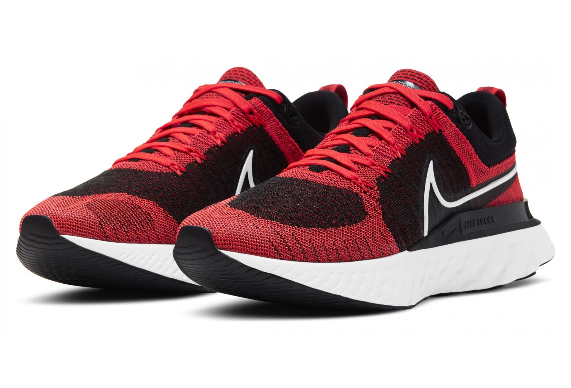 Nike React Infinity Run Flyknit 2 Running Shoes Red Black Men