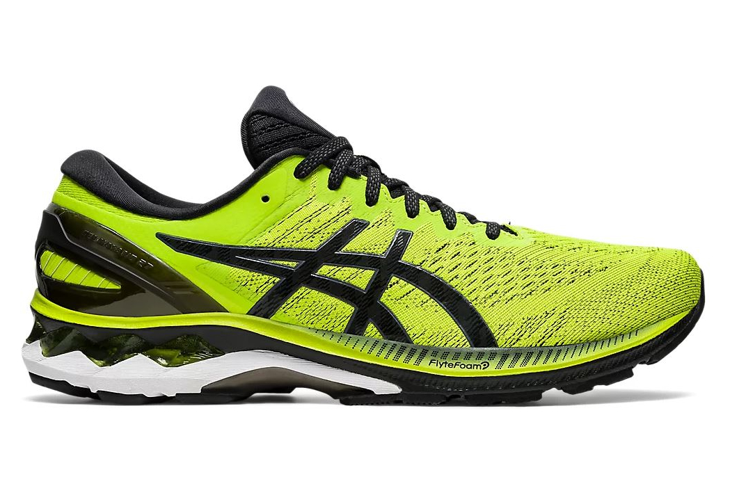 Asics Gel Kayano 27 Yellow Black Running Shoes | Alltricks.com