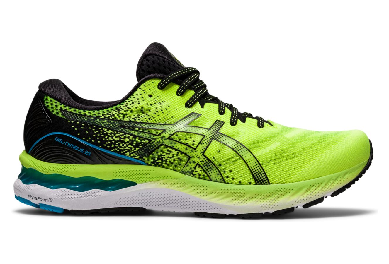 Asics Gel Nimbus 23 Running Shoes Yellow Blue | Alltricks.com