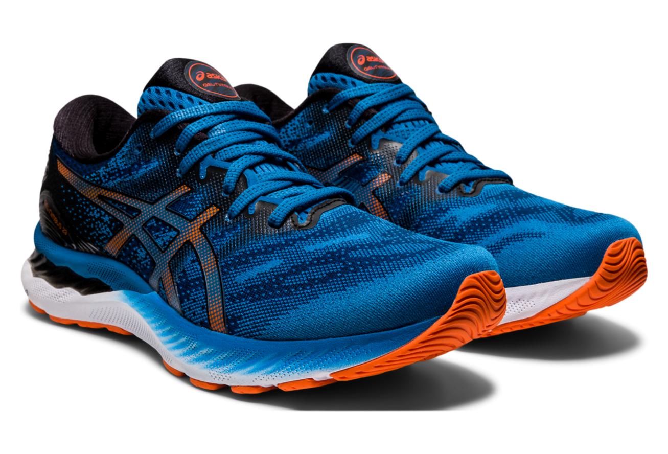 Asics Gel Nimbus 23 Running Shoes Blue Black