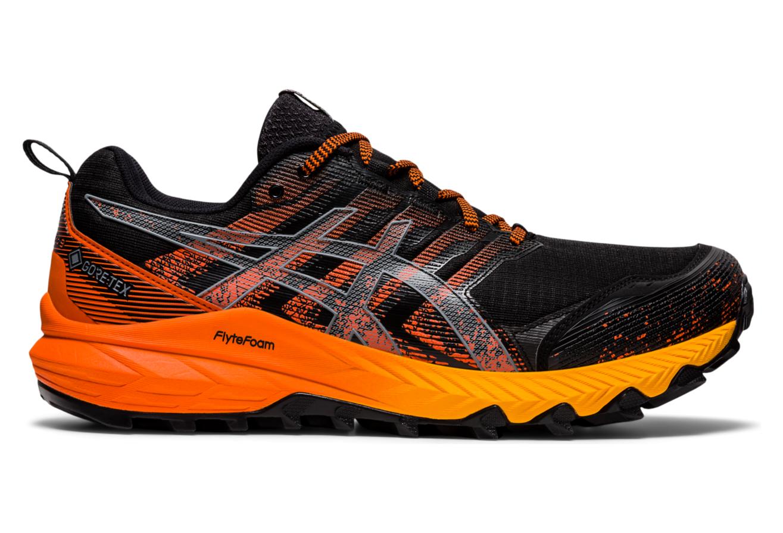 Asics Gel Trabuco 9 GTX Trail Shoes Black Orange