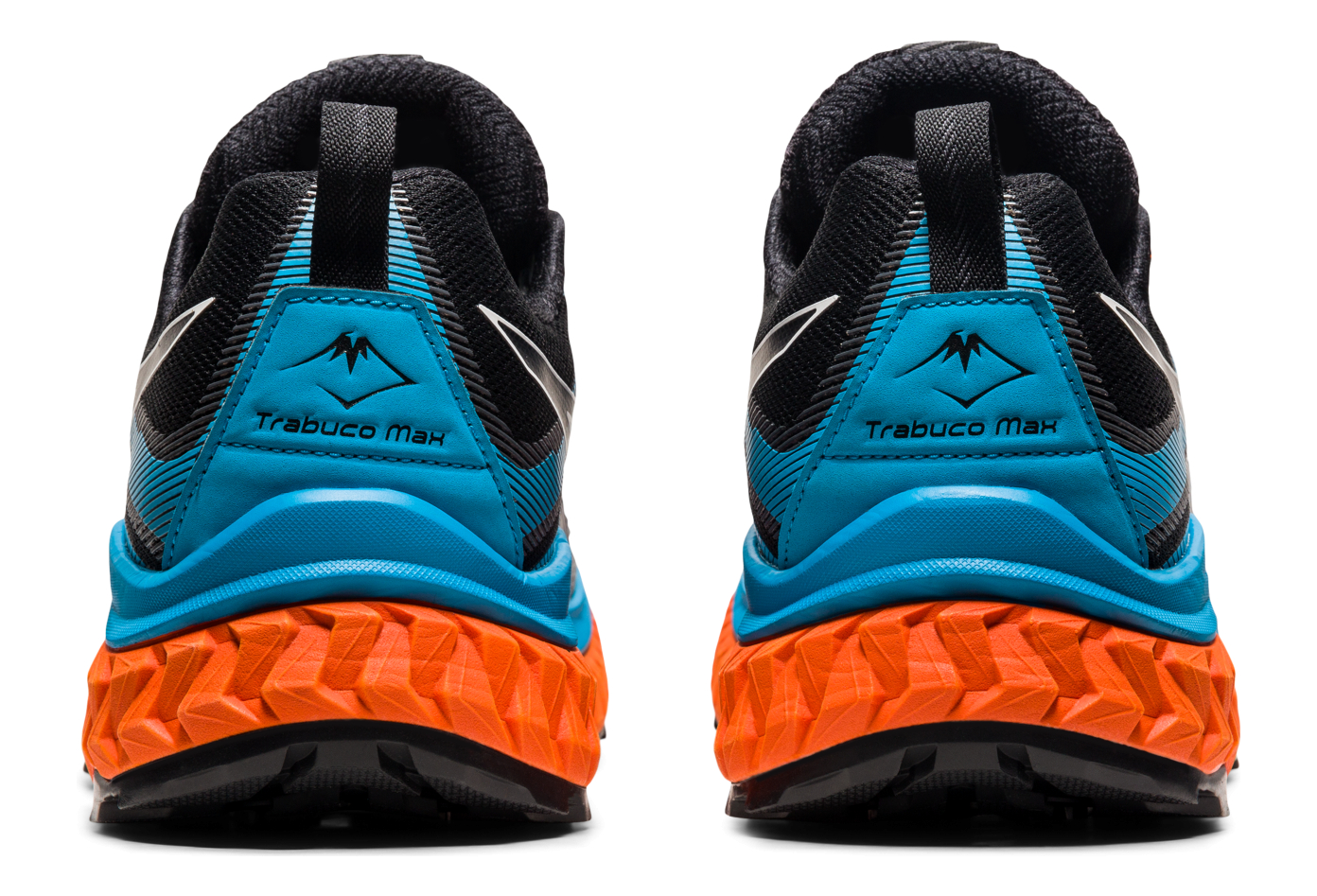 Asics Trabuco Max Trail Shoes Black Blue Orange