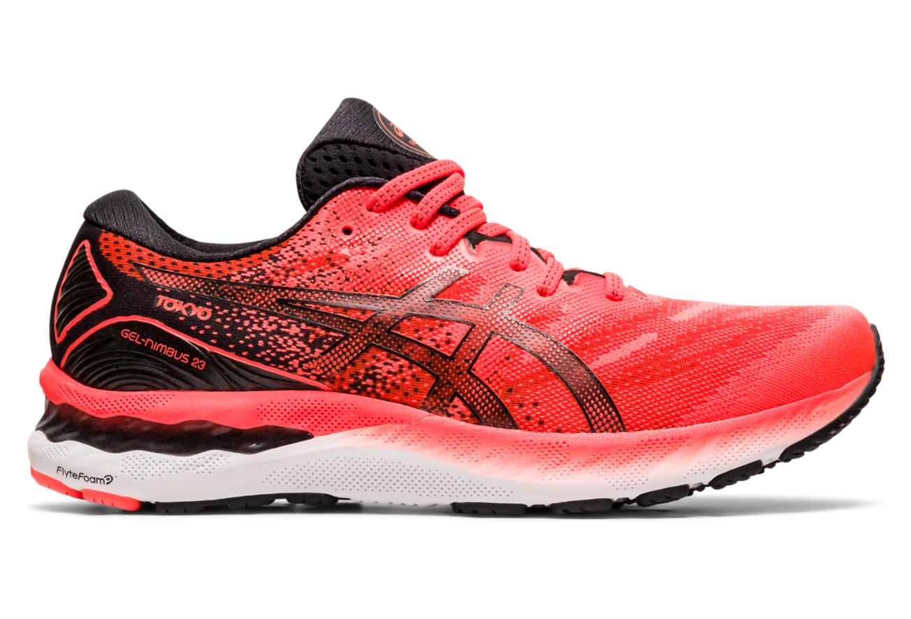 Asics Gel Nimbus 23 Tokyo Running Shoes Red Black