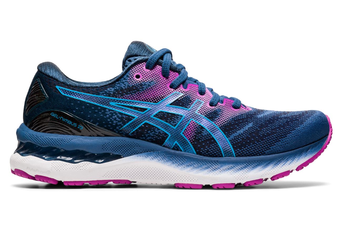Asics Gel Nimbus 23 Women's Running Shoes Blue Purple