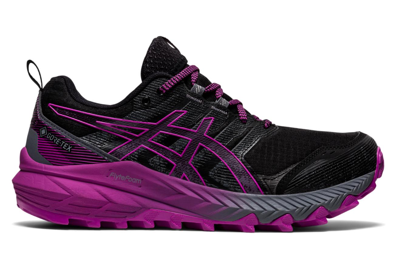 Asics Gel Trabuco 9 GTX Women's Trail Shoes Black Pink ...