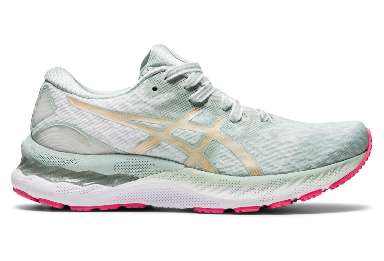 Asics Gel Nimbus 23 Sakura Gray Pink Women's Running Shoes