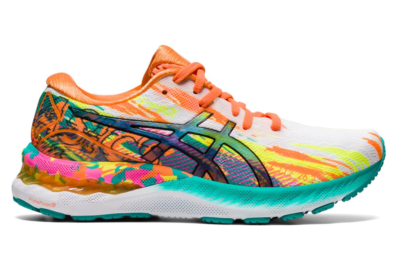 Chaussures de Running Femme Asics Gel Nimbus 23 Noosa Noir / Rose ...